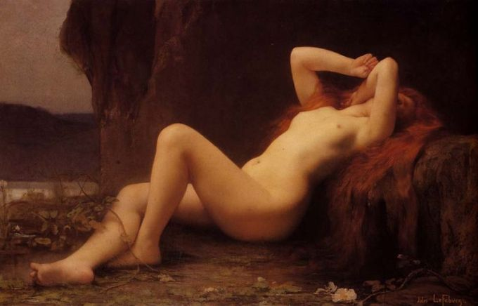 1876_Jules_Joseph_Lefebvre_Mary_Magdalene_In_The_Cave