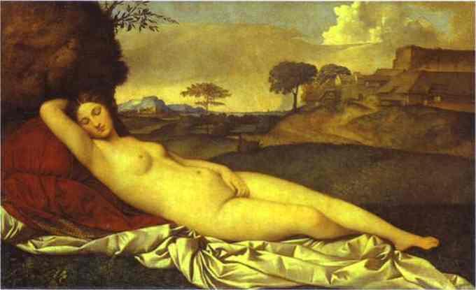 Giorgione- Venus dormind