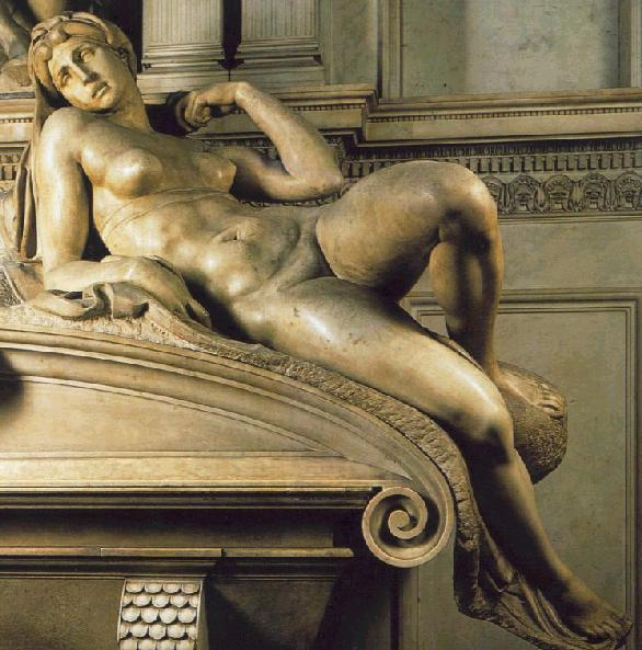 Michelangelo's Dawn on the Medici Tomb.